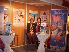 Kerry & Claire at the Wedding Show (Sunset Beach Club) Tags: wedding sunset beach club hotel stand organizer planner benalmadena coordinator