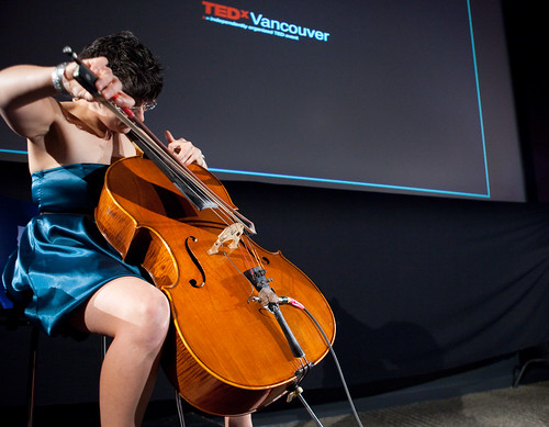 Cris Derksen - TEDx Vancouver 2009 - EA Sports - Burnaby, BC [Photo by TEDx Vancouver] (CC BY-SA 3.0)