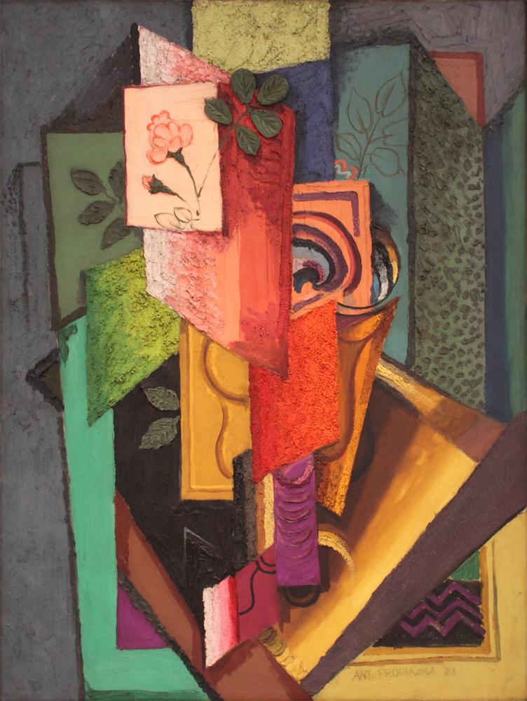 Antonin Prochazka, Still Life - Bouquet of Roses, 1921
