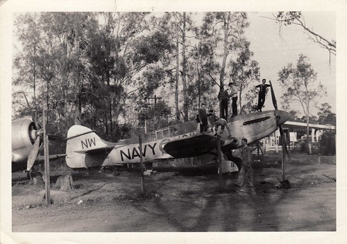 Warbird picture - Cadets with Fairey Firefly