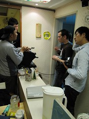 Simon H. on left, me on right.