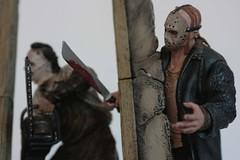 jason voorhees & Leatherface ({ lix }) Tags: toy leatherface terror fridaythe13th mezco jasonvoorrhess