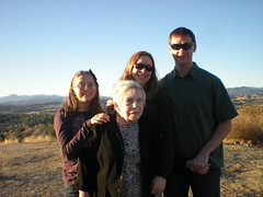 Emma, Grandma, Clare, and Dennis