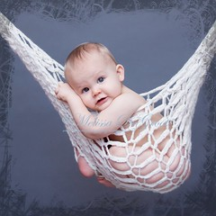 Hangin' Out (Shuttermomof3) Tags: portrait baby border hammock hanging 1year prop top20childrensportraits explored nikond80