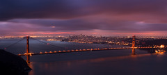 As The City Wakes (maxxsmart) Tags: sanfrancisco california longexposure bridge storm color canon goldengate bayarea marincounty marinheadlands ef2470f28l nofilters baysunrise 5dmarkii