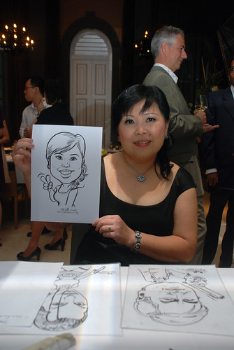 Caricature live sketching for AMEC Party - 1