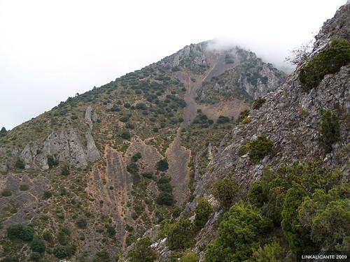 Erosión en La Serrella