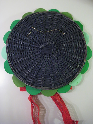 6 -  DIY Retro Holiday Circle Wreath - Add Elastic Hanging