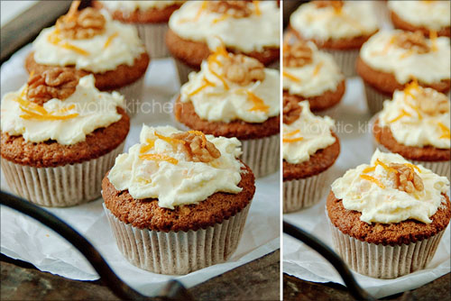 Carrot & Orange Cupcakes (with Mascarpone frosting) « Kayotic Kitchen