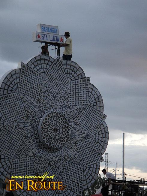 Pampanga Giant Lantern Festival Sta Lucia Setting Up