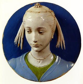 Andrea della Robbia, Ritratto di giovane gentildonna, 1465-1470. Firenze, Bargello