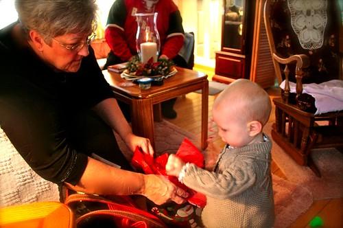 Grandma and Zo  - Zoey 1st Christmas