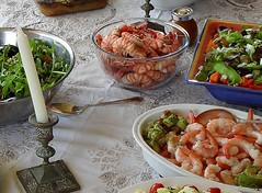 Seafood and Salad