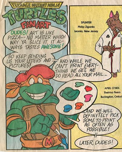 Teenage Mutant Mutant Ninja Turtles { newspaper strip } ..art by Brown , Lavigne - isolated :: 12161990