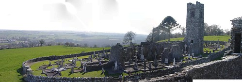 Hill of Slane Abbey Panorama