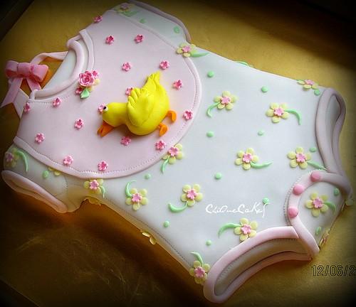 baby onesie cake