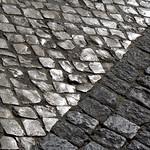Cobblestones Lisbon, Portugal