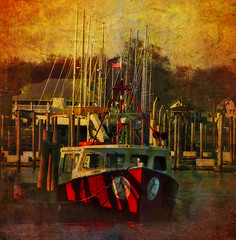 ---- The Red Witch---- (xandram) Tags: photoshop boat textures masts sbfmasterpiece bondsdock sbfgrandmaster