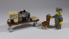German radio equipment (Rebla) Tags: german radio equipment lego rebla ww2 wwii world war 2 ii chair