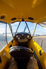 CUB 288 (Kaiserjp) Tags: cub j3 n23288 pipercub simflightcenter piper generalaviation taildragger cockpit instrumentpanel taxi piercecounty thunfield kplu 1s0 airplane interior