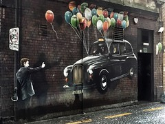 """The World's Most Economical Taxi"", Glasgow (Street Art) (alison2mcewan) Tags: mural glasgow scottish scotland rogueone installation outdoor fresco painting"