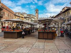 Piazza delle Erbe (Paco CT) Tags: gente people plaza square verona veneto italy ita market outdoor pacoct 2017