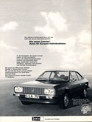 lancia beta (1976) (sonjasfotos) Tags: vintage advertising beta oldtimer werbung reklame lancia caradvertising lanciabeta