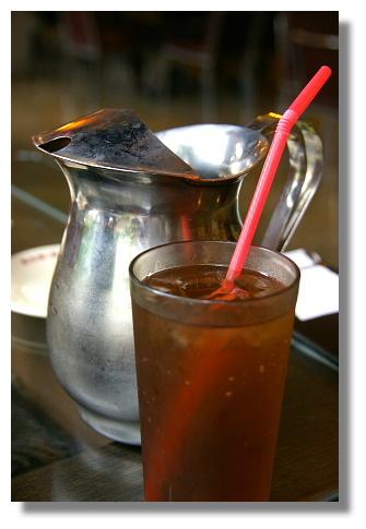 新台灣原味餐廳內的冬瓜茶飲料