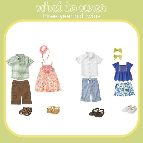 What to Wear three year old twins