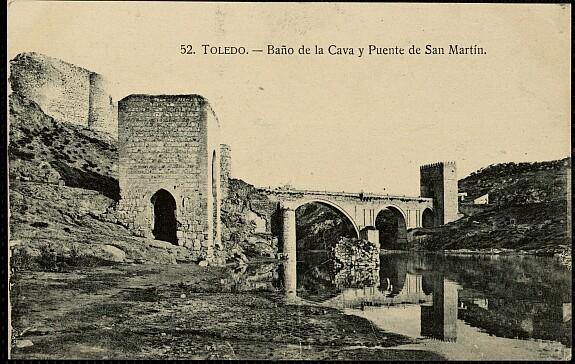 Baño de la Cava (Toledo) a principios del siglo XX. Foto HAE