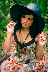 model noura (tommyvon) Tags: portrait girl boston portraits canon pose garden model photoshoot natural outdoor headshot portraiture glamor noura modelmayhem 40d
