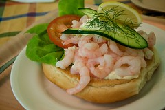 Shrimp Pile Sandwich