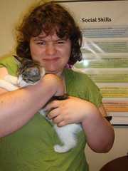 Valerie and RJ the kitty