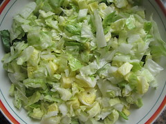 Chopped lettuce