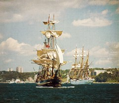 Getting ready for the Parade of Sail (Nancy Rose) Tags: city novascotia harbour sails halifax tallships soe pictoncastle hmsbounty paradeofsail shipe