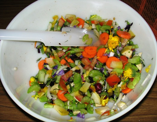 Salad : Novelty Flower Salad