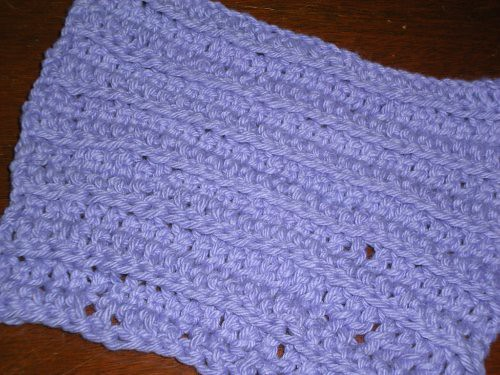 Rachel's First Crochet Dishcloth