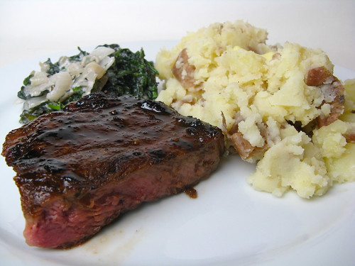 Espresso glazed steak