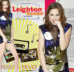 Leighton Meester - Music is power (bitchymode) Tags: girl graphic banner leighton blend gossip meester