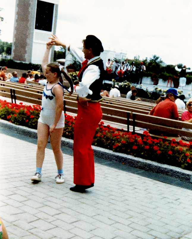 World Showcase dancer and zanna