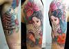 Geisha Girl Tattoo Tattooed by Ray