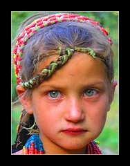 Kalash Girl (shafqat_mirza) Tags: pakistan holiday girl beauty cap kalash kalasha chitral greenblueeyes pakistanigirl kalashi kalashgirl bumburit