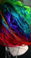 Wet Rainbow Hair (wisely-chosen) Tags: selfportrait hair dawn august dye redhair pinkhair bluehair orangehair 2009 picnik purplehair greenhair yellowhair rainbowhair colorfulhair lavenderhair adobephotoshopcs4 manicpanicprettyflamingo manicpanicflaming manicpanicrubine manicpanicvampirered manicpanicultraviolet manicpanicbadboyblue manicpanicfuschiashock manicpanicpurplehaze manicpanicshockingblue manicpaniclielocks manicpanicelectricbanana