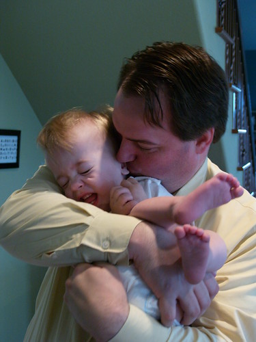 Baby and Dad Cuteness