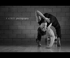 hydrodynamic (r c hill photography) Tags: portrait man motion wall studio dance movement shot rehearsal fluid stereo freeze setup breakdance bboy breezeblock strobist