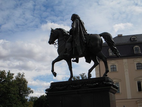 Normally its Grand Duke Carl Augustus on his horse in the Platz der Demokratie.