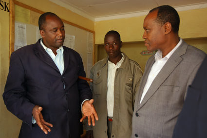 The local councilor of Transmara was helping Kakenya negotiate with the member of parliament and officers of education department about increasing school teachers.