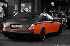 Maybach 57 (Richard de Heus) Tags: bw orange black london harrods coloring rrr 57 selective maybach matteblack rrrgroup