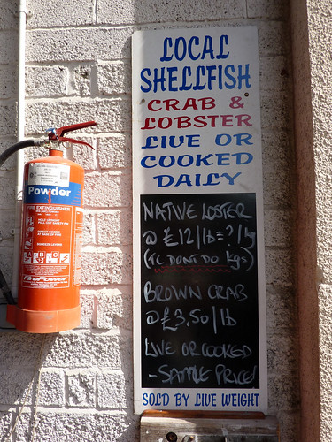 Local shellfish sign