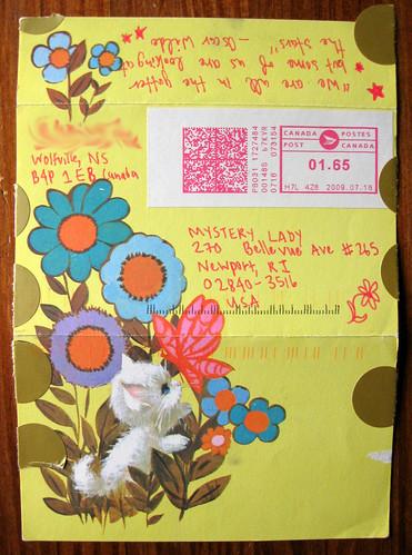 Vintage kitty postalette